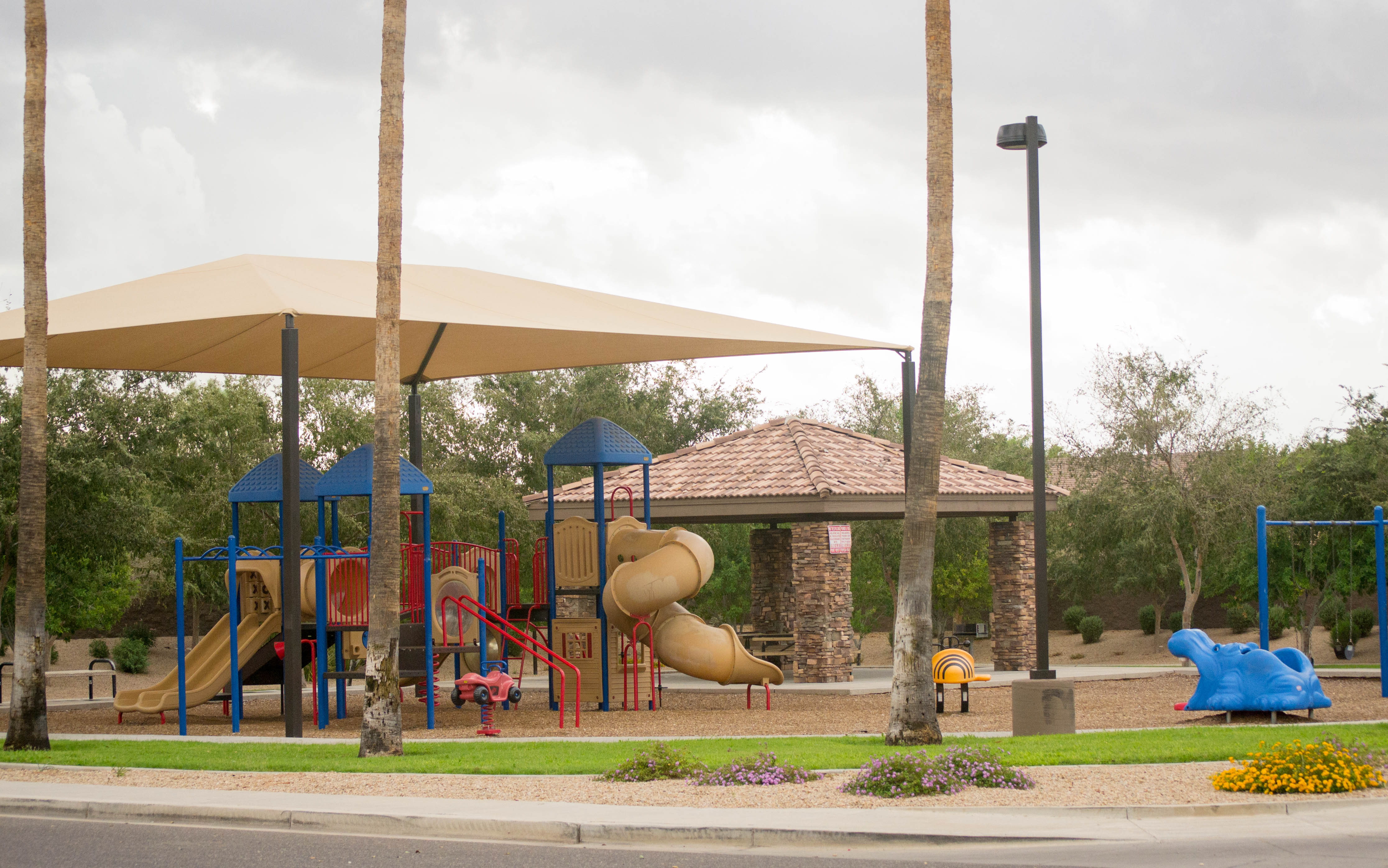 Covered Playground With Swings